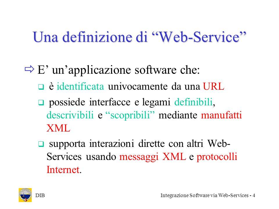 Una definizione di Web-Service