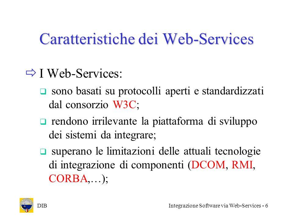 Caratteristiche dei Web-Services