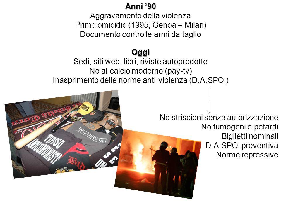 Aggravamento della violenza Primo omicidio (1995, Genoa – Milan)