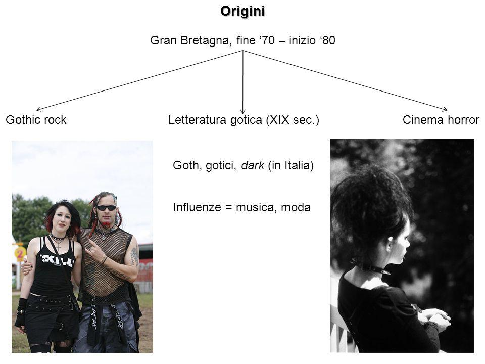 Origini Gran Bretagna, fine '70 – inizio '80 Gothic rock