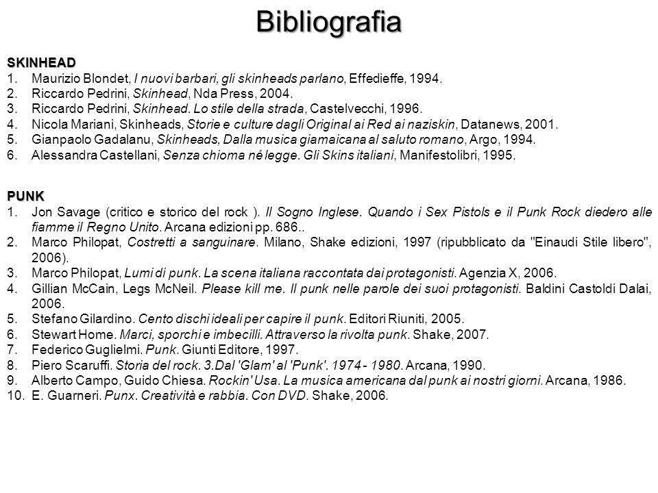 Bibliografia SKINHEAD