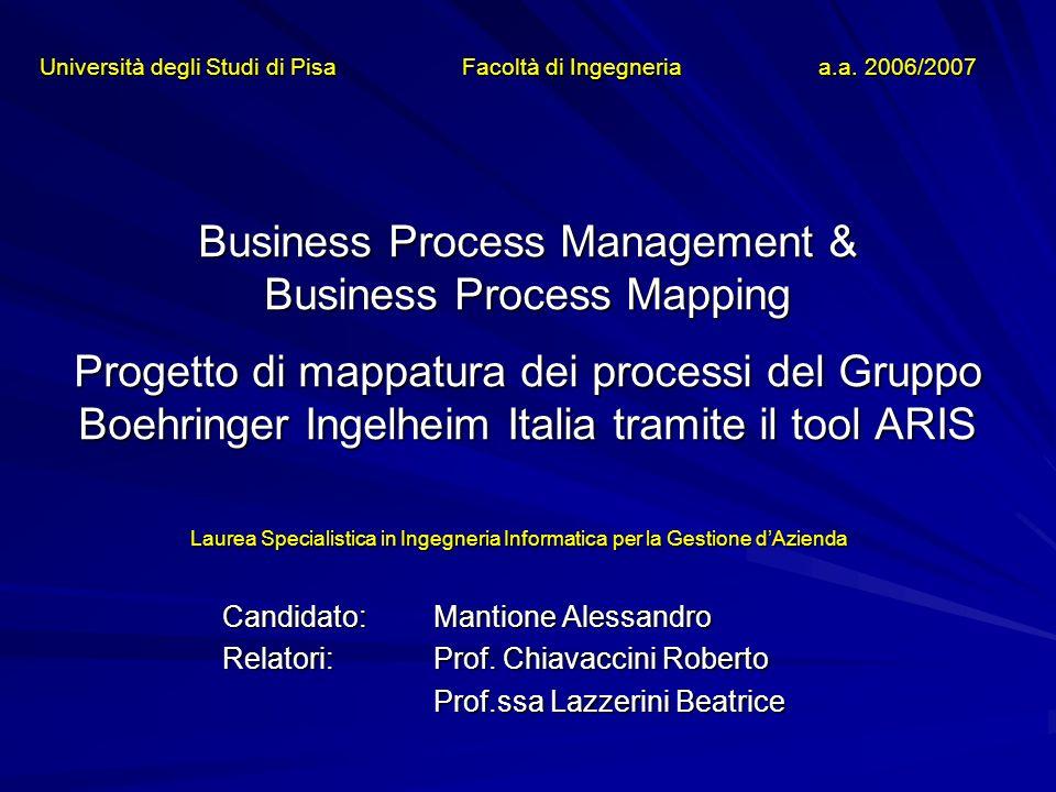 Università degli Studi di Pisa Facoltà di Ingegneria a.a. 2006/2007