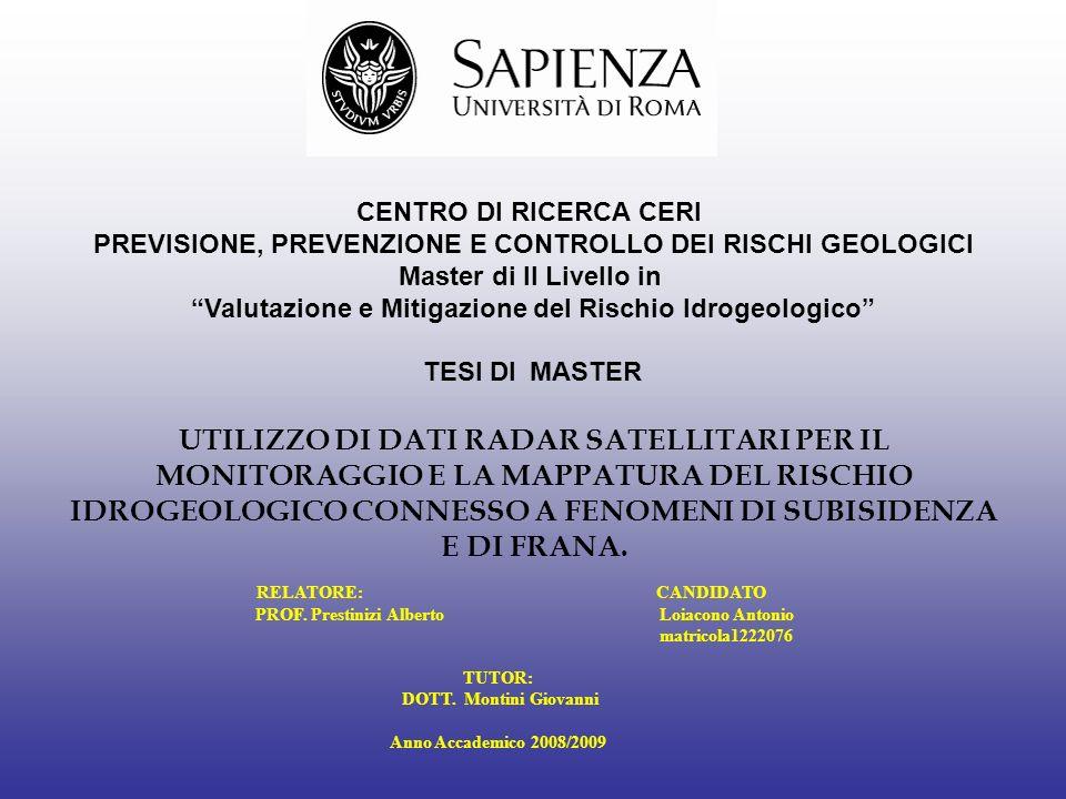 Valutazione e Mitigazione del Rischio Idrogeologico