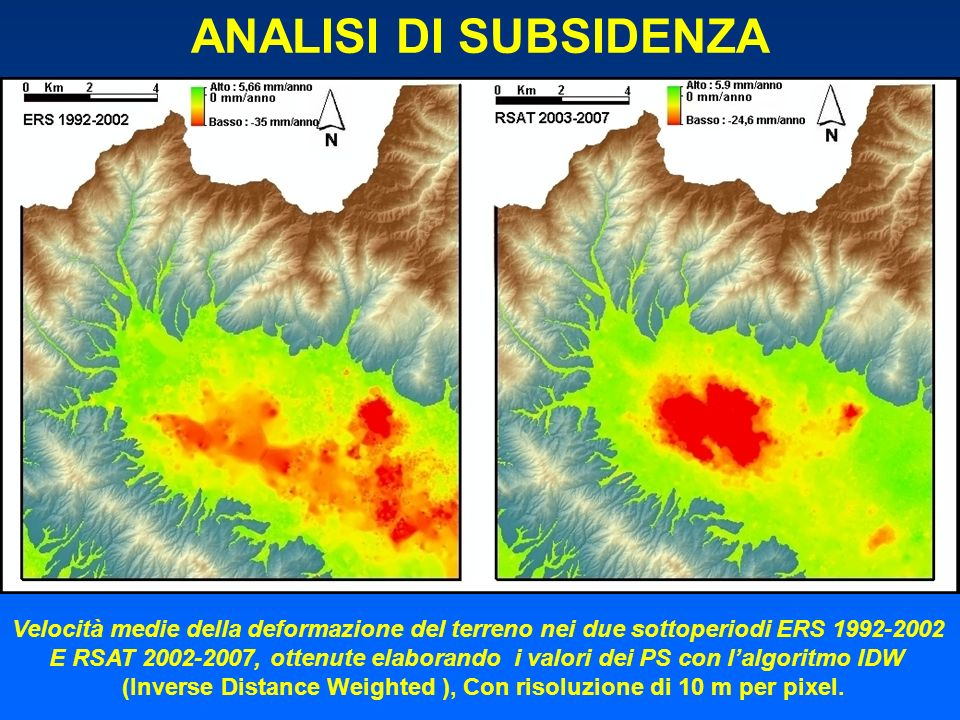 (Inverse Distance Weighted ), Con risoluzione di 10 m per pixel.
