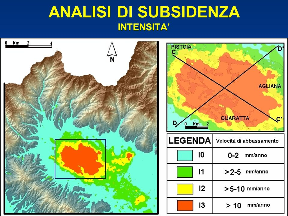 ANALISI DI SUBSIDENZA INTENSITA'