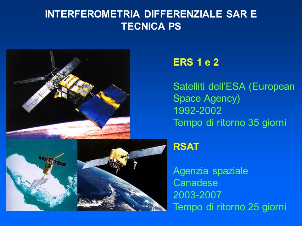 INTERFEROMETRIA DIFFERENZIALE SAR E