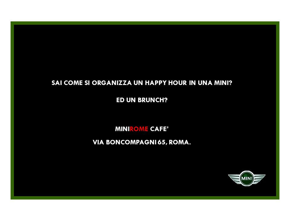SAI COME SI ORGANIZZA UN HAPPY HOUR IN UNA MINI