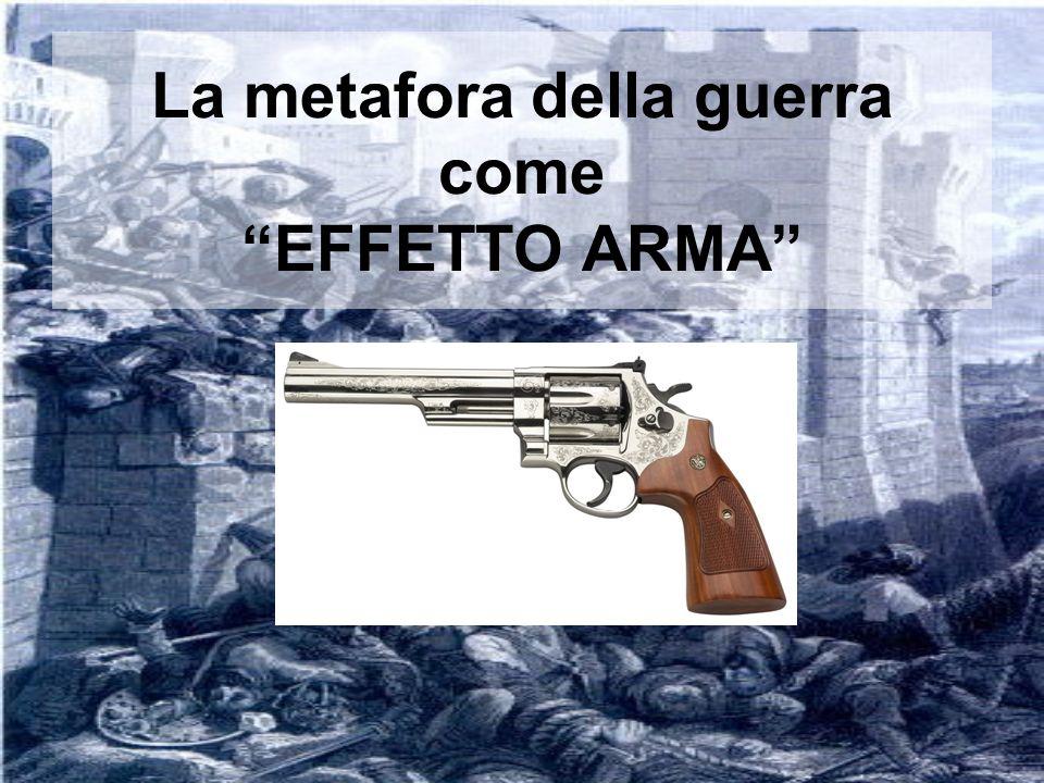 La metafora della guerra come EFFETTO ARMA