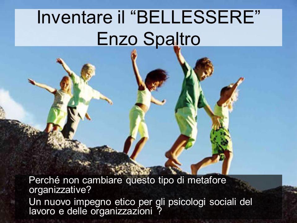 Inventare il BELLESSERE Enzo Spaltro
