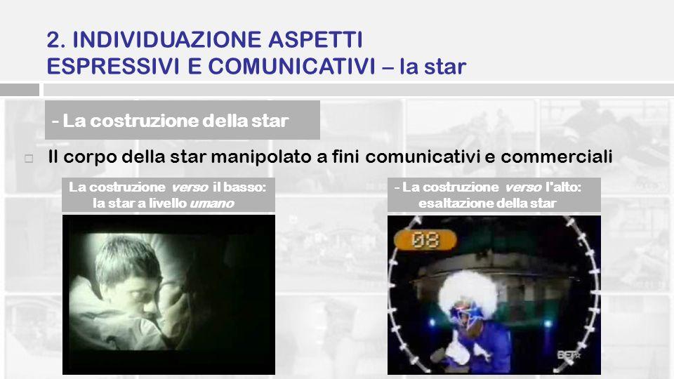 2. INDIVIDUAZIONE ASPETTI ESPRESSIVI E COMUNICATIVI – la star