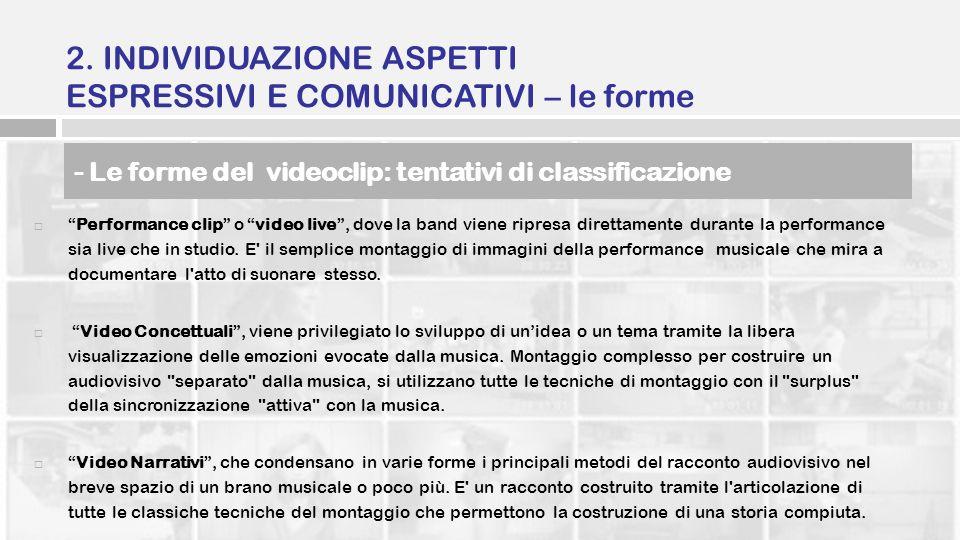 2. INDIVIDUAZIONE ASPETTI ESPRESSIVI E COMUNICATIVI – le forme