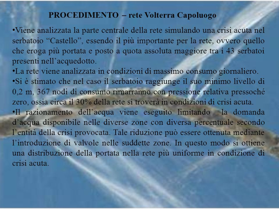 PROCEDIMENTO – rete Volterra Capoluogo
