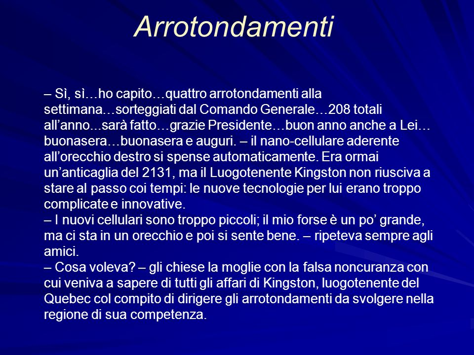 Arrotondamenti