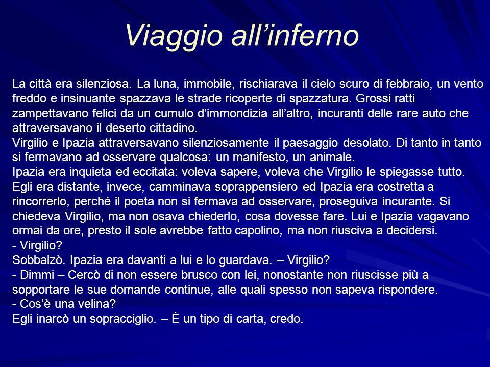 Viaggio all'inferno