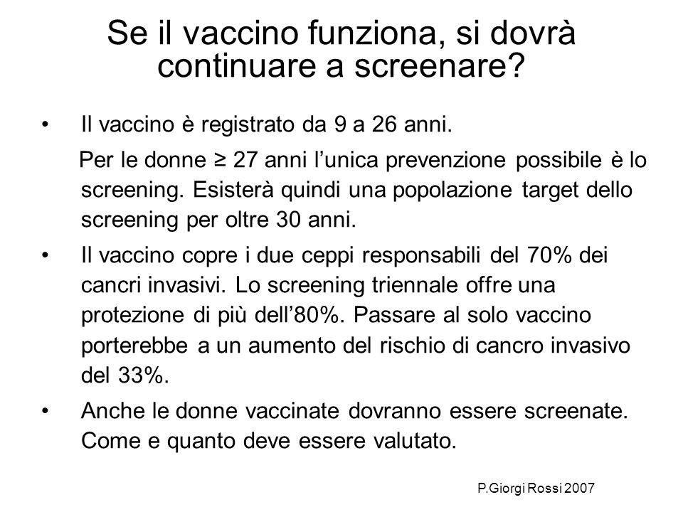 Se il vaccino funziona, si dovrà continuare a screenare