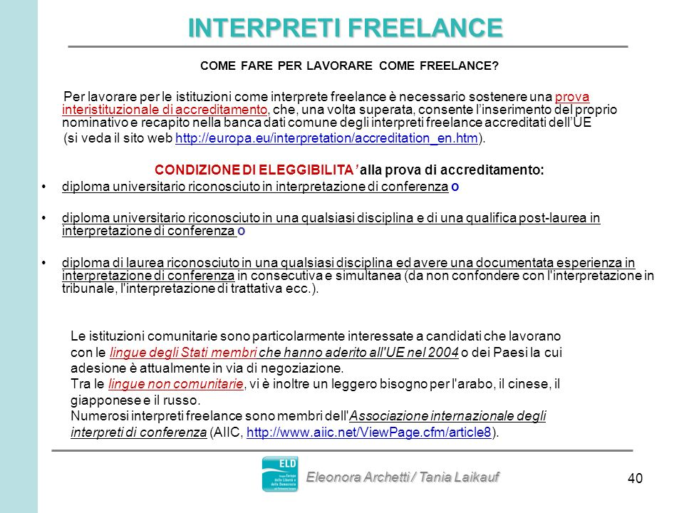 INTERPRETI FREELANCE COME FARE PER LAVORARE COME FREELANCE