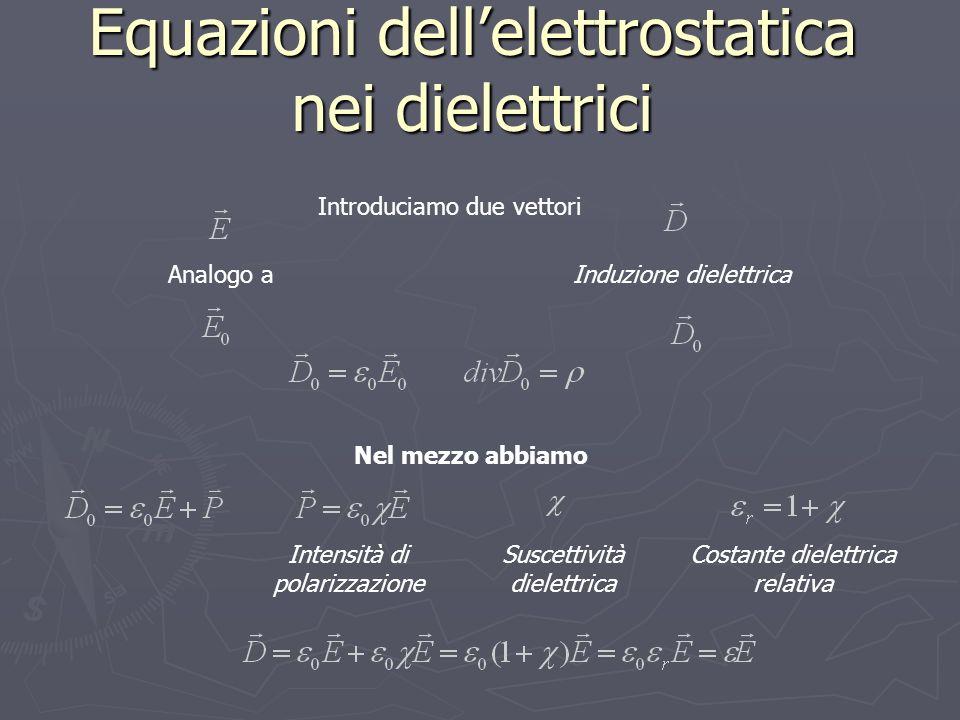 Equazioni dell'elettrostatica nei dielettrici