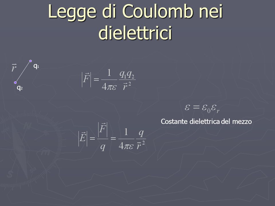 Legge di Coulomb nei dielettrici