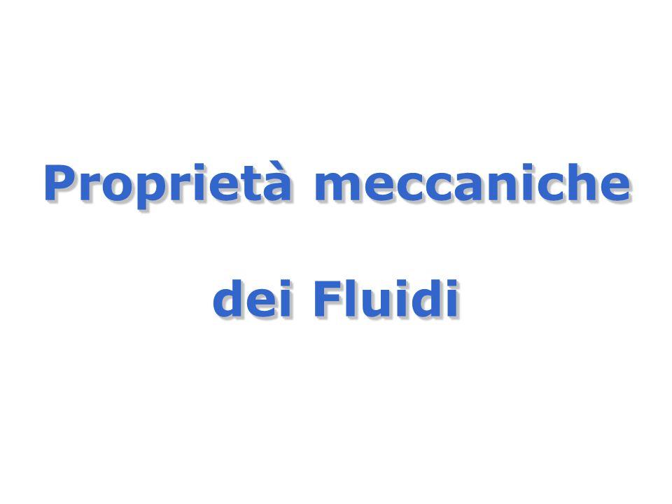 Proprietà meccaniche dei Fluidi