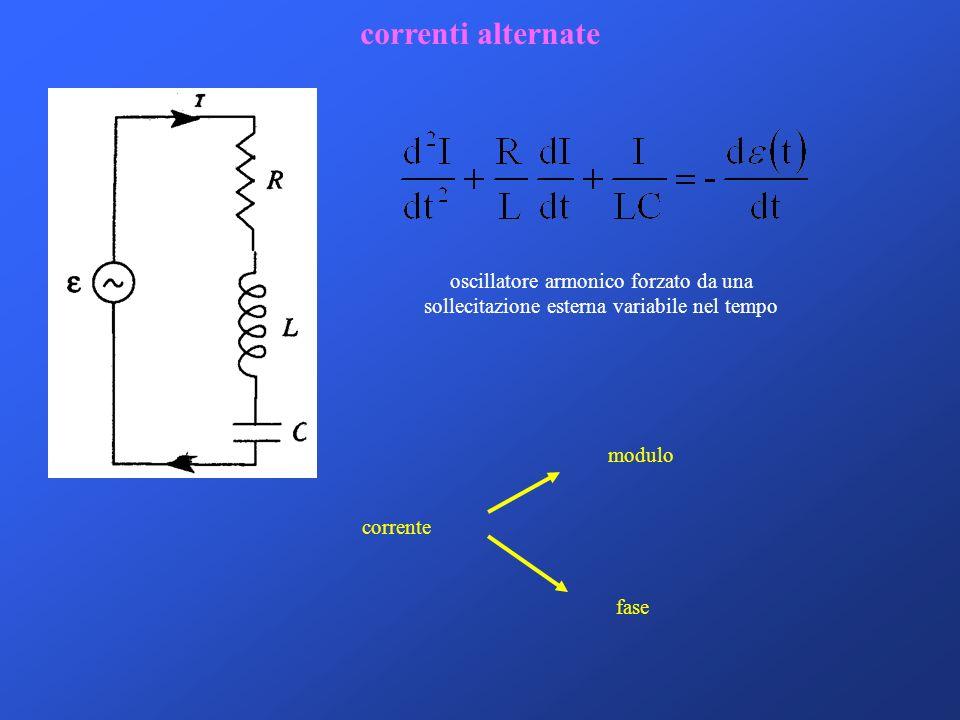 correnti alternate oscillatore armonico forzato da una