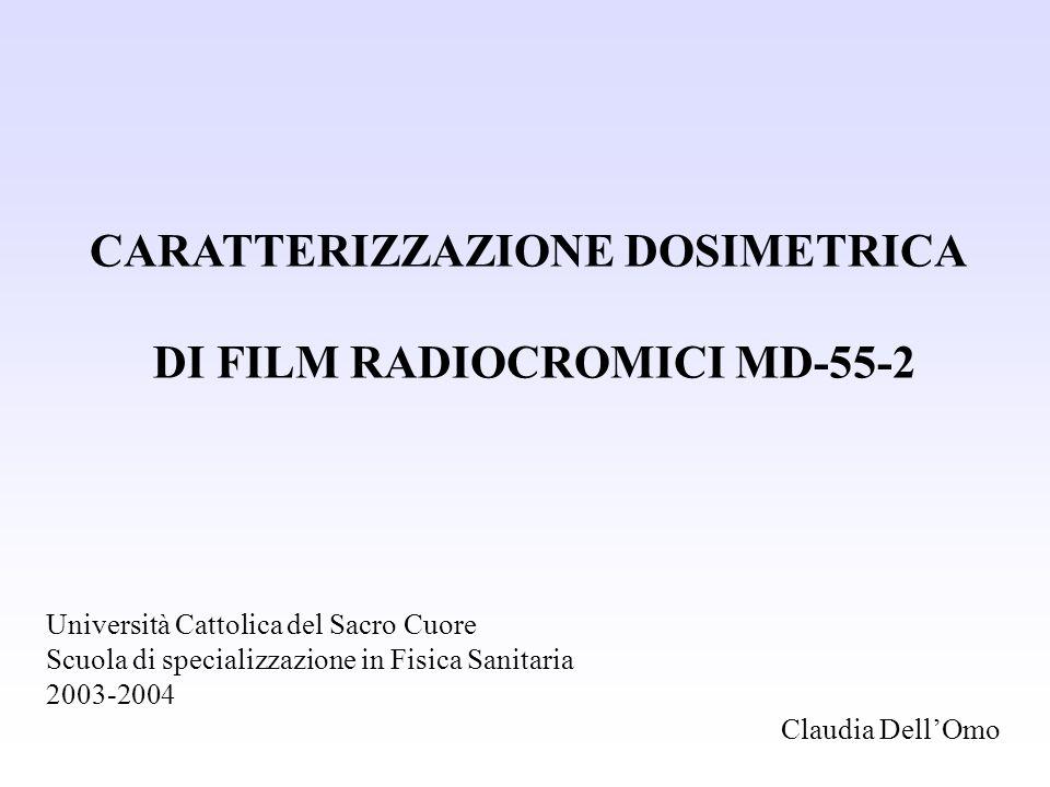 CARATTERIZZAZIONE DOSIMETRICA DI FILM RADIOCROMICI MD-55-2
