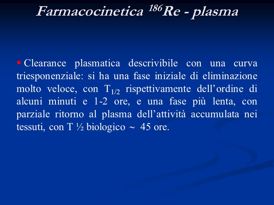 Farmacocinetica 186Re - plasma
