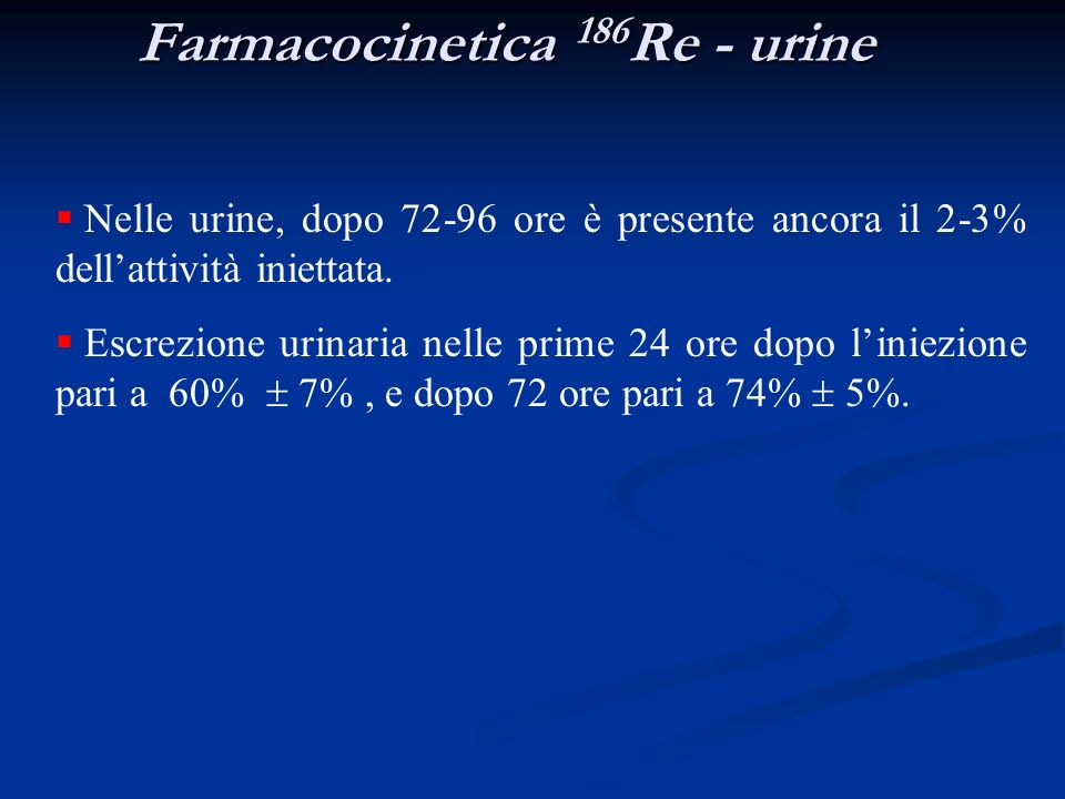 Farmacocinetica 186Re - urine