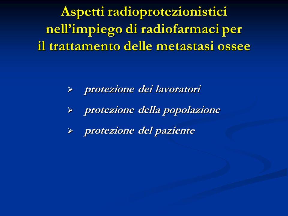 Aspetti radioprotezionistici nell'impiego di radiofarmaci per il trattamento delle metastasi ossee