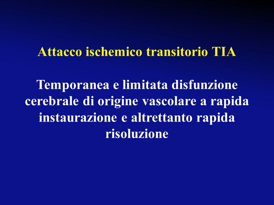 Attacco ischemico transitorio TIA