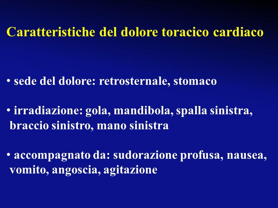 Caratteristiche del dolore toracico cardiaco