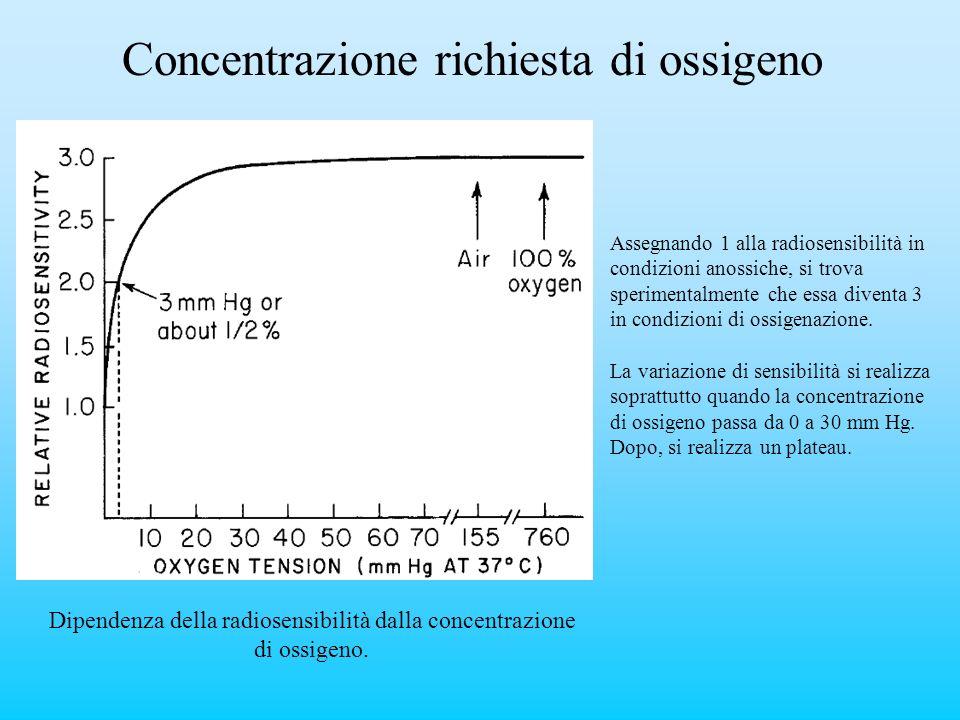 Concentrazione richiesta di ossigeno
