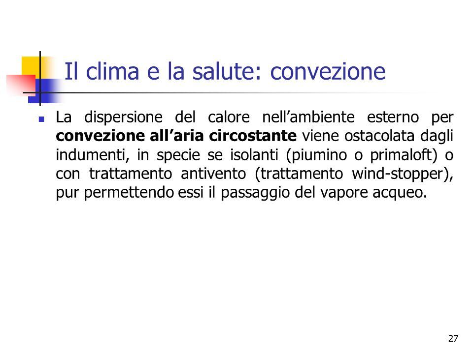 Il clima e la salute: convezione
