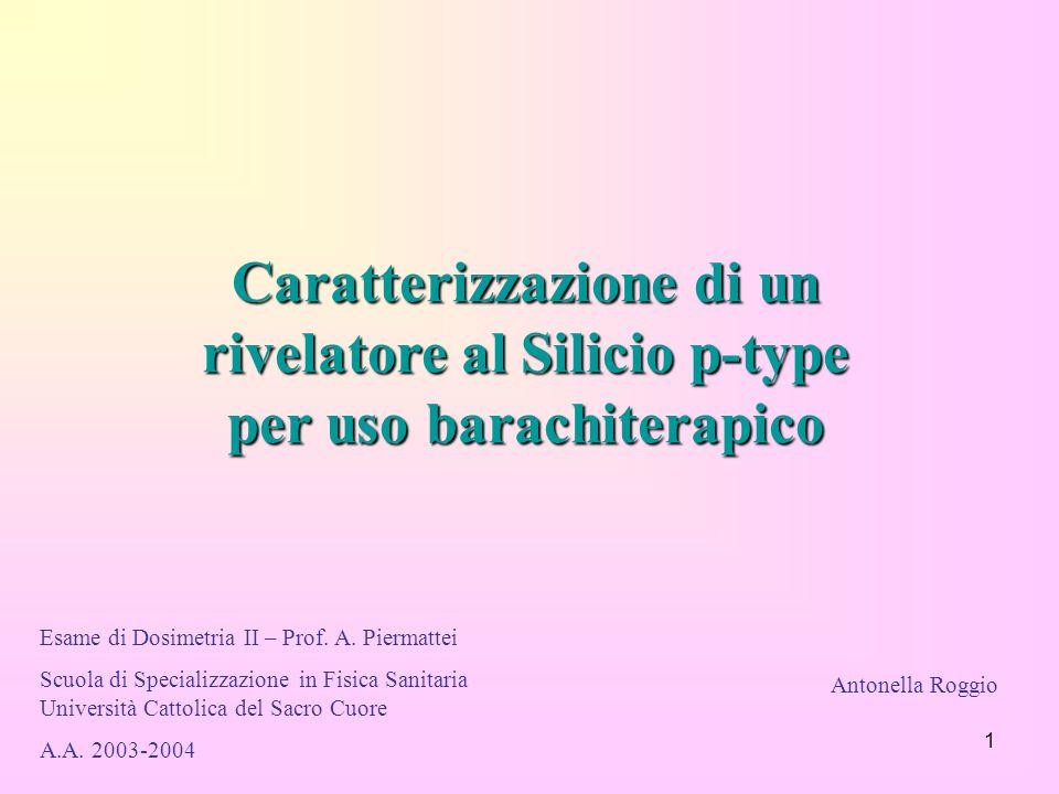 Caratterizzazione di un rivelatore al Silicio p-type per uso barachiterapico