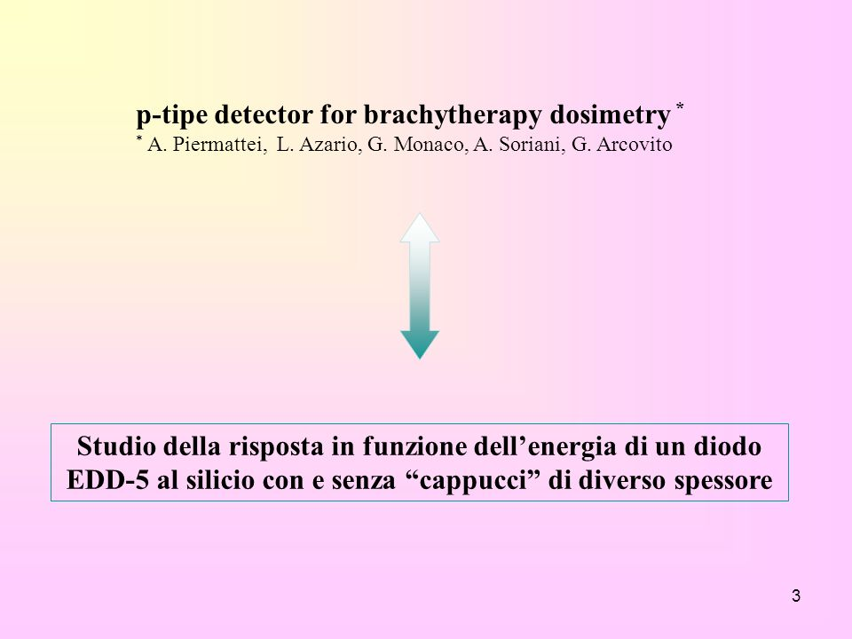p-tipe detector for brachytherapy dosimetry *