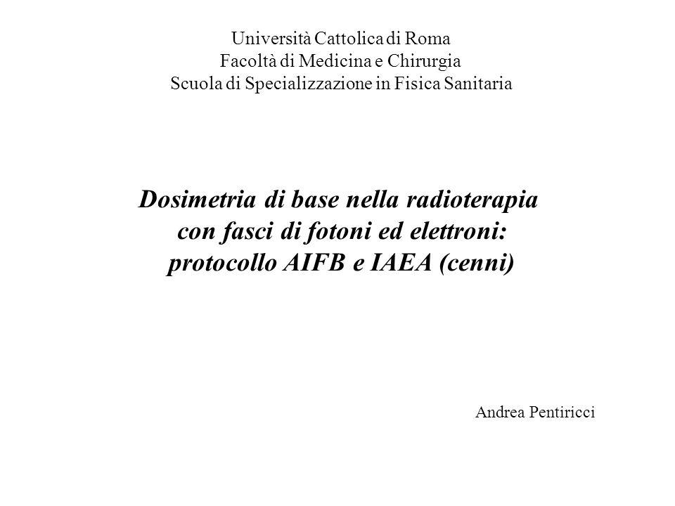 Dosimetria di base nella radioterapia