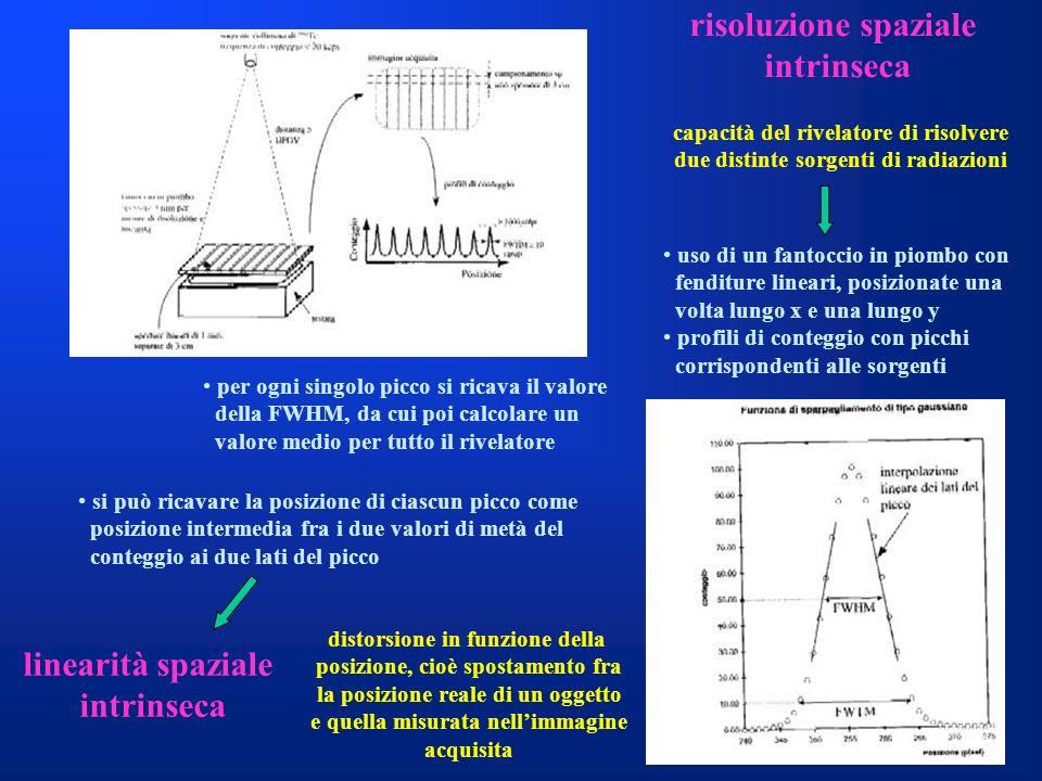 risoluzione spaziale intrinseca linearità spaziale intrinseca