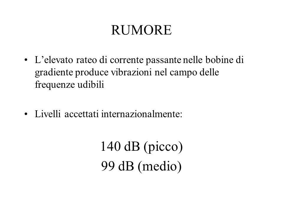 RUMORE 140 dB (picco) 99 dB (medio)