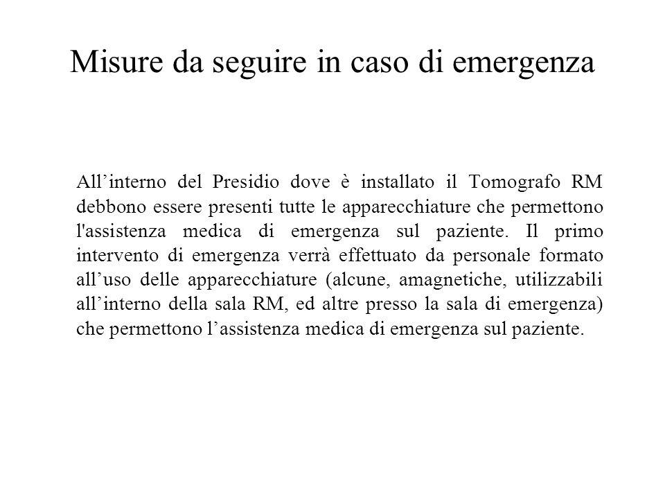 Misure da seguire in caso di emergenza