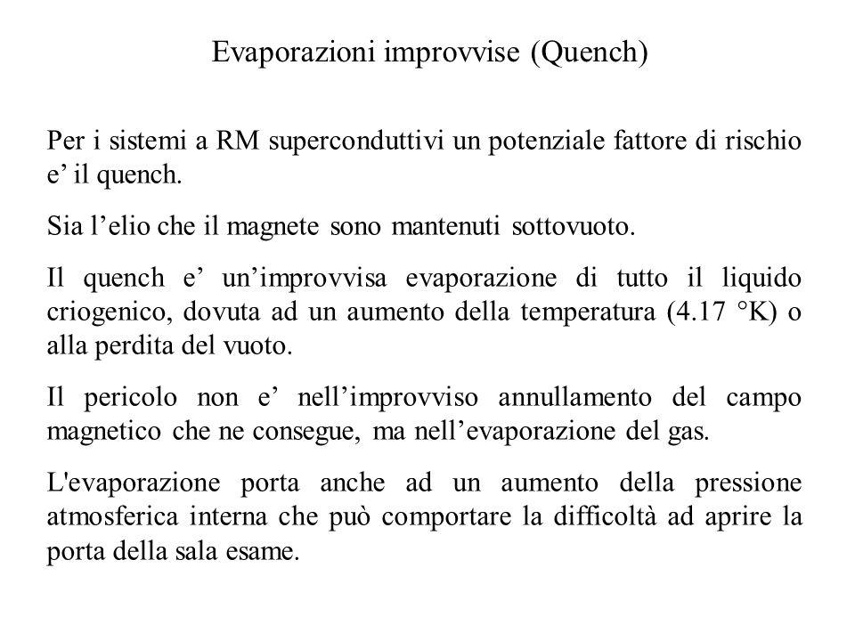 Evaporazioni improvvise (Quench)