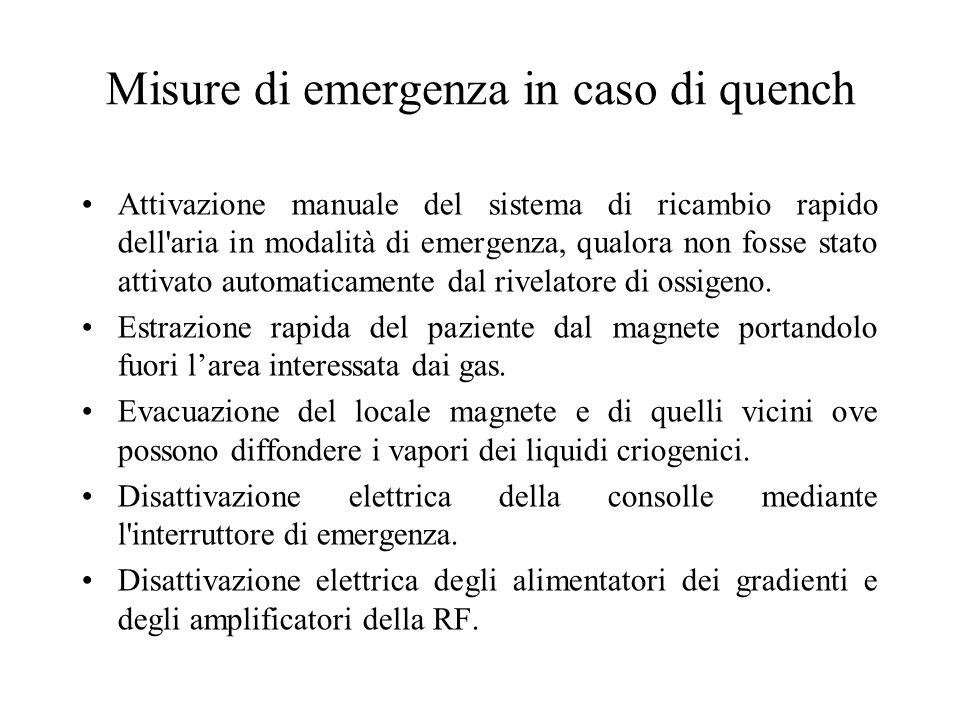 Misure di emergenza in caso di quench