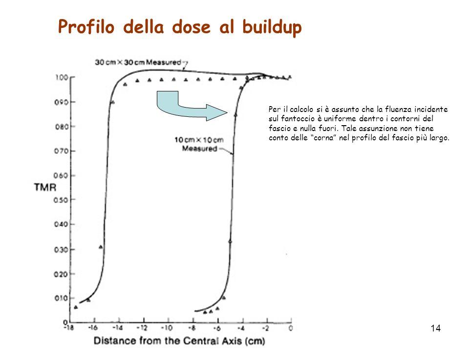 Profilo della dose al buildup
