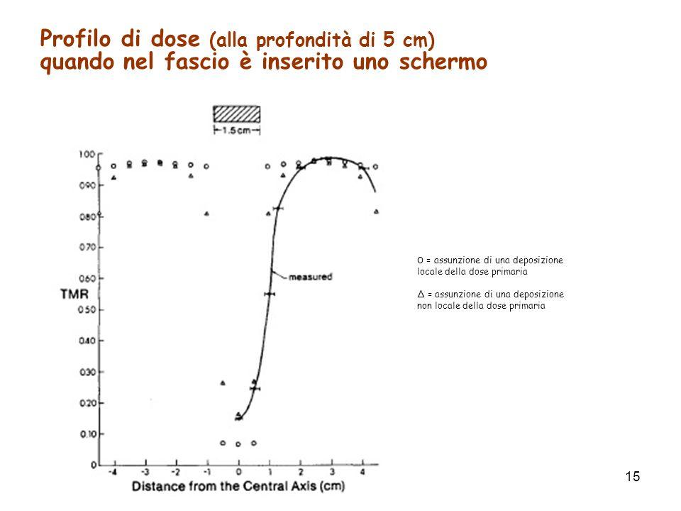 Profilo di dose (alla profondità di 5 cm)