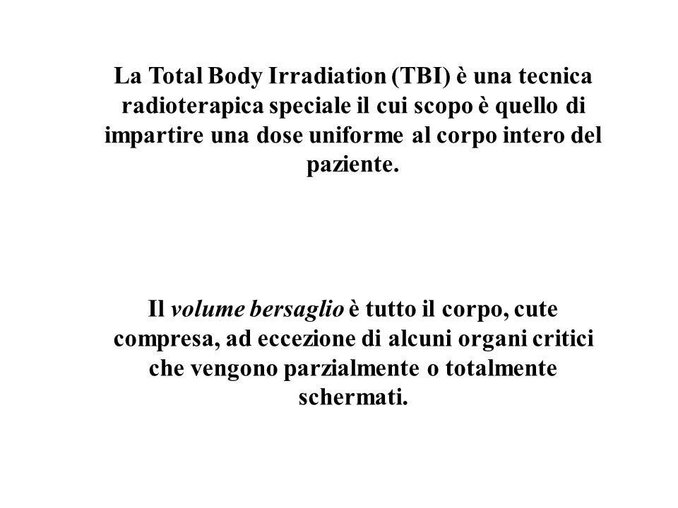 La Total Body Irradiation (TBI) è una tecnica radioterapica speciale il cui scopo è quello di impartire una dose uniforme al corpo intero del paziente.