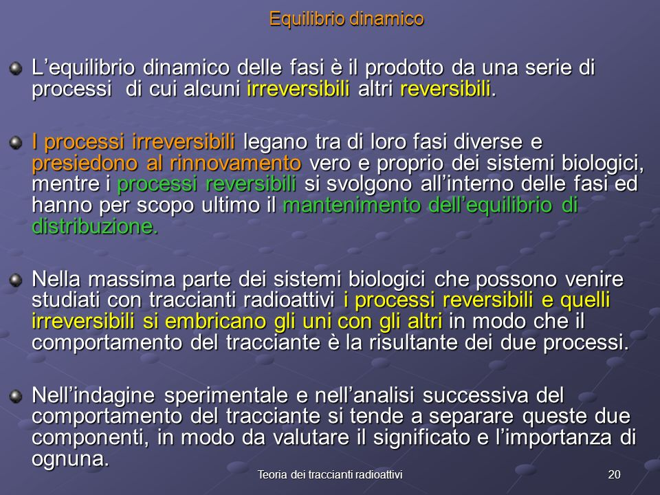 Teoria dei traccianti radioattivi