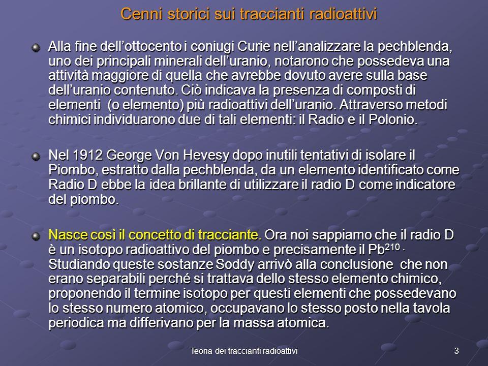 Cenni storici sui traccianti radioattivi