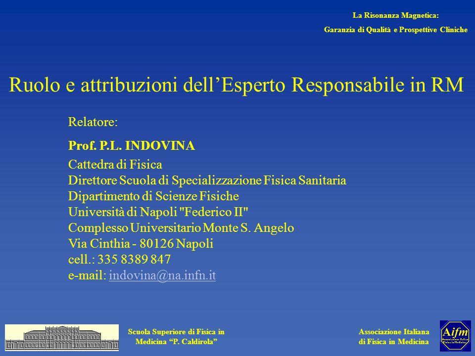 Ruolo e attribuzioni dell'Esperto Responsabile in RM