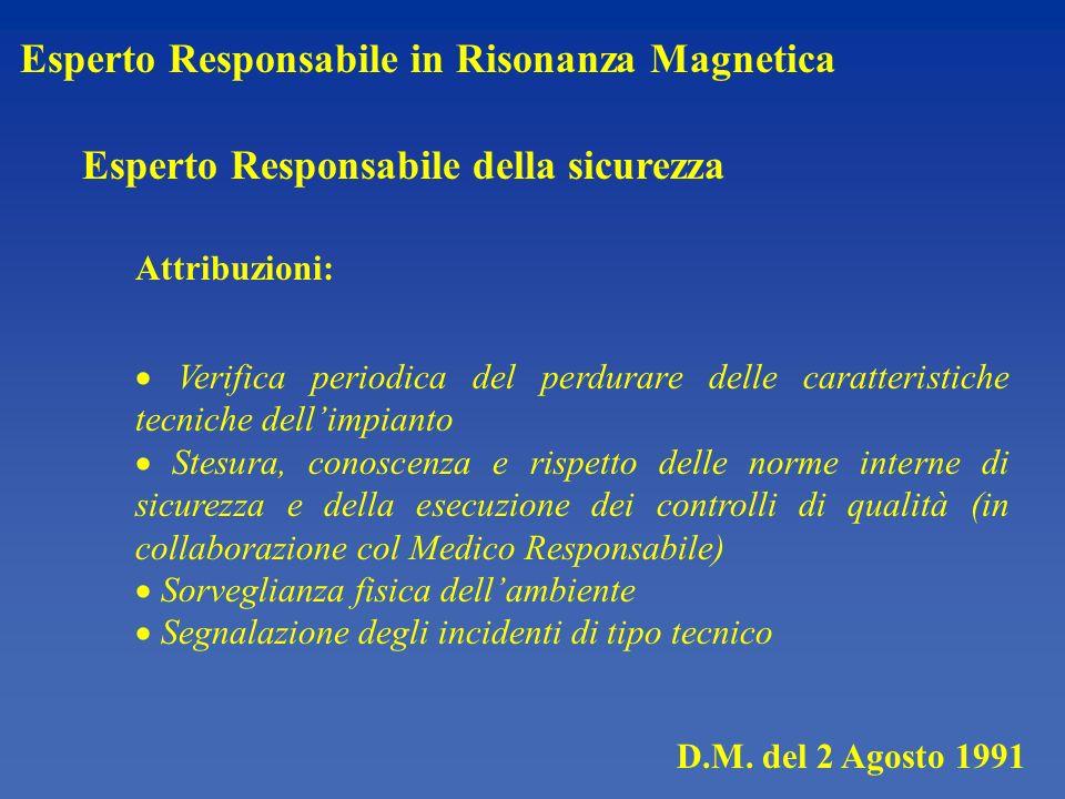 Esperto Responsabile in Risonanza Magnetica