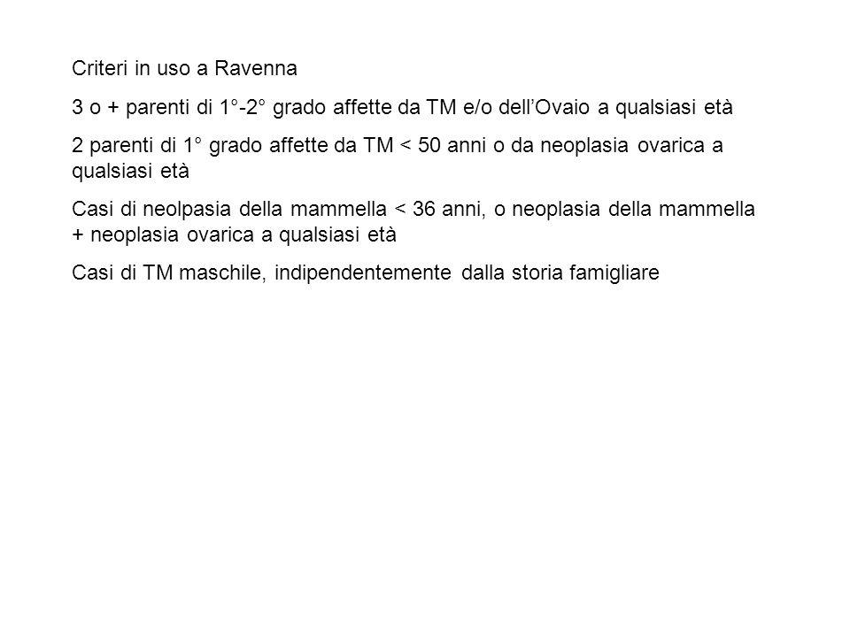 Criteri in uso a Ravenna