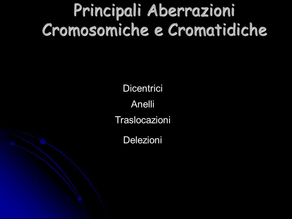 Principali Aberrazioni Cromosomiche e Cromatidiche