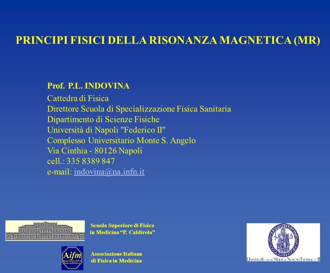 PRINCIPI FISICI DELLA RISONANZA MAGNETICA (MR)